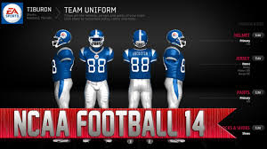 Ncaa Football 14 Team Builder How To Create Custom Uniforms Youtube