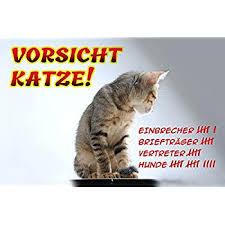 Schatzmix Vorsicht Katze Blechschild Lustig Comic Metallschild