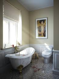 Bathroom Awesome Clawfoot Tub In Fancy Bathroom With Topless