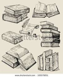 books stack stock vector