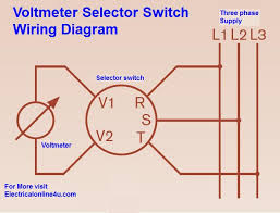 voltmeter selector switch wiring diagram for three phase voltmeter selector switch wiring