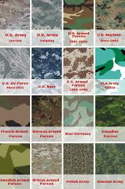 Military Camouflage Patterns Magnificent Different Types Of Military Camouflage Patterns Daily Infographics