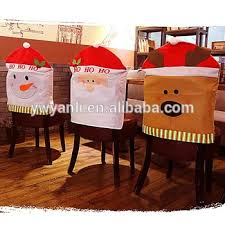 kitchen dining room chair back cover santa snowman reindeer seat covers chair cover
