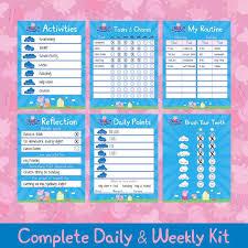 Peppa Pig Chore Kit Chore Chart Printable Reward Chart Responsibility Chart Positive Behavior Chart Kids Planner Weekly Chart