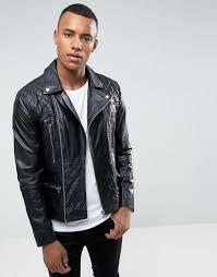 barneys originals barneys premium leather biker jacket