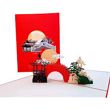 Selections range from 25 to 125 assorted cards packs with a variety of design options, so you can find bulk birthday cards for business that suit both your company's needs and budget. Amazon Com Igifts And Cards Inspirational Asian Pavilion Scenery 3d Pop Up Greeting Card Full Moon Romantic Bridge Lanterns Pine Tree Half Fold All Occasion Birthday Mid Autumn Festival Chinese New Year Office