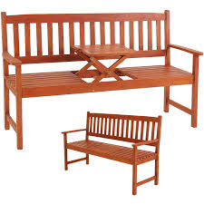 outsunny 42 wood wagon wheel bench