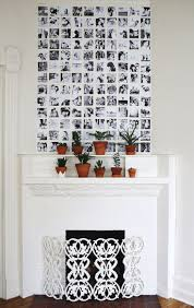 Black and white square photo wall paper