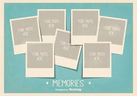 Vintage Style Photo Collage Template Download Free Vector Art