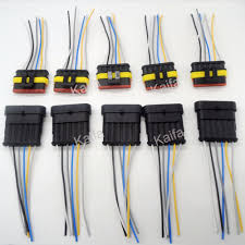 compare prices on 5 wire harness online shopping buy low price 5 5 sets 6 pin car waterproof electrical connector plug wire electrical wire cable car motorcycle