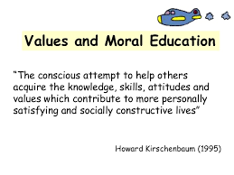 moral education in schools and colleges essay