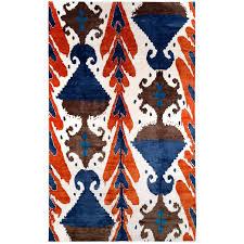 orange ikat rug orange and blue silk area rug for rugs as art sarasota phone