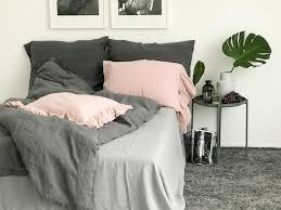 linen duvet cover graphite color linen bedding seamless stonewashed pure linen quilt cover twin queen king size comforter cover