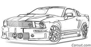 Best Car Drawings Ford Mustang Muscle Car Places To Visit Car