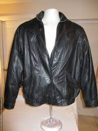 wilsons mens black leather biker motorcycle jacket w thinsulate lining large 84 99