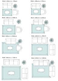 area rug sizes typical guidelines placement on living room rugs standard size for non