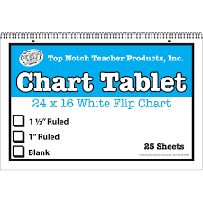 White Chart Tablet 16x24 1 5in Ruled 25 Sht