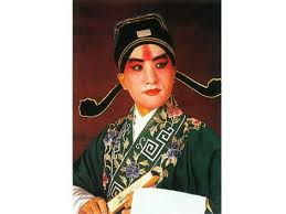 man in female makeup