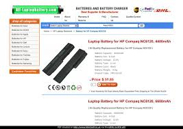 Laptop <b>Battery for HP</b> Compaq NC6120 by hand susan - issuu