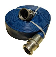 2 inch blue lay flat water pump discharge hose camlocks 60 feet wph20