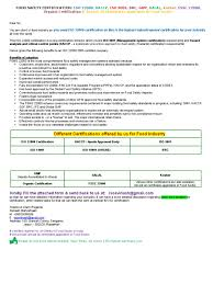 Email Letter For Food Ind Hazard Analysis And Critical Control