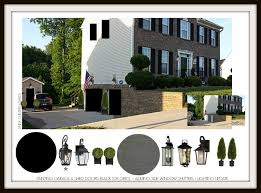 focal point styling exterior home improvements with black shutters lights doors