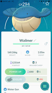Wailmer Takes 400 Candies To Evolve Thesilphroad