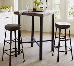black dining room table pottery barn. griffin reclaimed wood bar-height table black dining room pottery barn