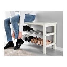 Tjusig Coat Rack Marvelous TJUSIG Bench With Shoe Storage Black 100x100 Cm IKEA Of 65