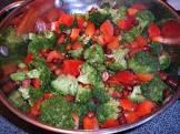 broccoli  peanut   sweet red pepper stir fry