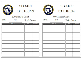 Tournament Sign Up Sheets Sample Tournament