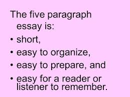 the five paragraph essay also known as the three point essay ppt  the five paragraph essay is