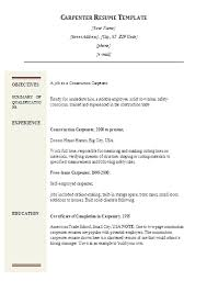 11 Sample Carpenter Resume Templates 2016 | Job And Resume Template