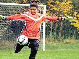 Image result for India's first woman to play in English league football - Aditi Chauhan