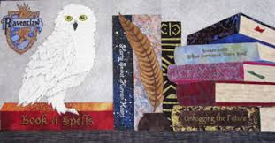 Amanda's Harry Potter Quilt | Quilts | England Design Studios & The feather fabric for Hedwig came from an OLD printed goose pillow you  were to stuff. Sometimes when you save