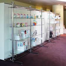 Free Standing Shop Display Units Contemporary shelf glass for shops commercial TWIN RIG 89