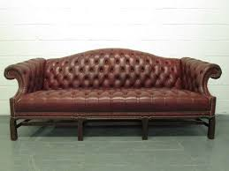 chesterfield leather sofa chippendale style at 1stdibs intended for camelback leather sofa