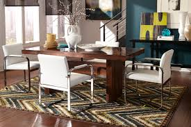 chevron rug under dining room table