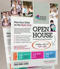 School Open House Flyer Template Open House Flyer Ideas Flyer