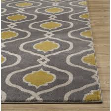 sweet gray yellow area rug remarkable ideas andover mills waconia grayyellow reviews grand modest design and