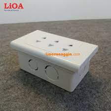 Combo ổ cắm điện ba 2 chấu LiOA 16A 3520W - Âm tường