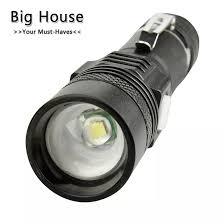 Nhà Lớn USB Nổi Bật Tiện Dụng Mạnh Mẽ Hợp Kim Nhôm Đèn Pin Công Suất Đầu  Tầm Xa Zoom Mini Đèn Pin Nhỏ