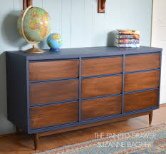 Midcentury modern dressers Stanley Mcm2 Mcm3 The Painted Drawer Midcentury Modern Dresser Before And After