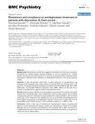 Pdf Persistence And Compliance To Antidepressant Treatment