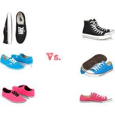 converse vs vans. vans vs. converse vs v