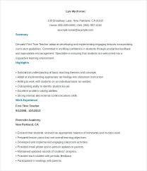 Resume Sample Of A Teacher Directory Resume Sample