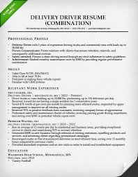delivery driver combination resume sample job description of truck driver