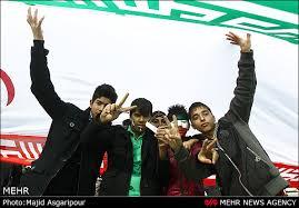 نتیجه تصویری برای عکس های راهپیمایی 22 بهمن 95