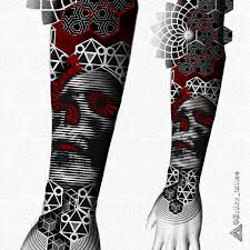 сделать татуировку орнаментальный полурукав на предплечье в городе