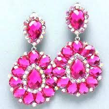 clip on chandelier earrings pageant chandelier earrings pink chandelier earrings pink crystal rhinestone chandelier clip bridal clip on chandelier